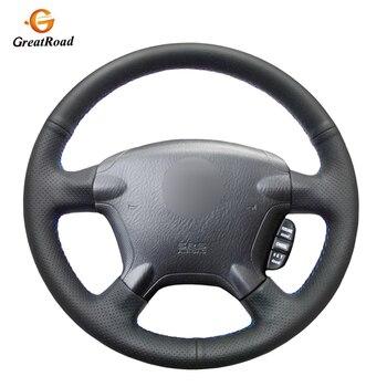 Black Genuine leather Car Steering Wheel Cover for Honda CR-V CRV 2002-2006