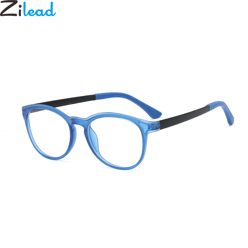 Zilead Kids Ultralight Anti Blue Light Glasses Frame Children Round Optical Sepectacles Computer Goggles Eyeglasses Eyewear