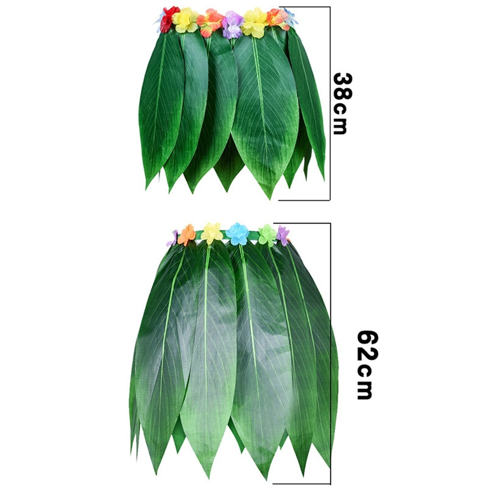 3 Size Fancy Costume Grass Skirt Hawaiian Palm Leaf Skirt Luau Beach Tropical Elastic Waist Skirt for Summer Party 1 SET in Party DIY Decorations from Home Garden