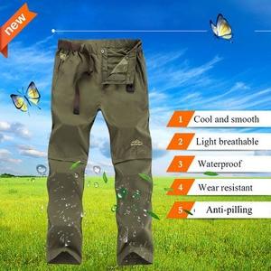 Image 3 - Nuonekoリムーバブル男性の夏速乾貨物パンツ男性通気性ズボン、男性カーキスウェットパンツプラスサイズ 6XL CK108