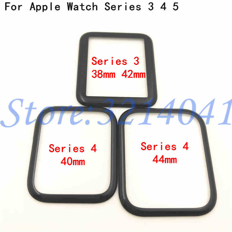 Original Front Glass For Apple Watch Series 3 4 5 38mm 42mm 40mm 44mm LCD Touch Screen Outer Glass Panel (Without Digitizer)|Mobile Phone Touch Panel| |  - title=