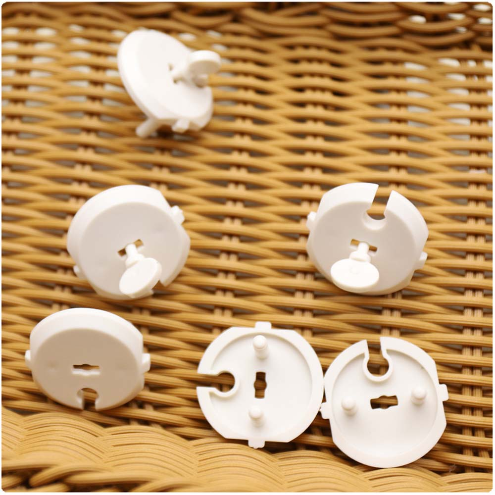 10Pcs Practical Power Socket Electrical Outlet Child Safety Guard Protection Anti Electric Shock Plugs Cover Caps