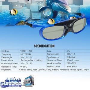Image 4 - 4個3Dためのプロジェクターフルhdアクティブdlpリンクメガネoptamaエイサーbenq viewsonicはシャープdell dlpリンクプロジェクター