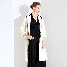 Euramerican style women's fashion windbreaker autumn long coat slimming temperament lady sashes waist trench women 3W19659