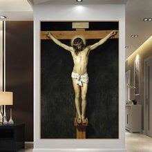 Картины на холсте с Христом распятием репродукции стене христианские