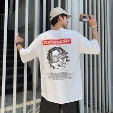 Мужские футболки с короткими рукавами и принтом японского аниме