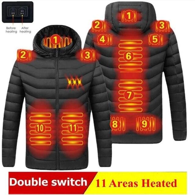 Мужская/женская теплая куртка с подогревом 11-ти областей 3