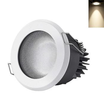 LED Recessed Downlight IP65 Waterproof Bathroom Kitchen 75-80mm Mounting Aperture Wide Pressure Recessed Ceiling Light