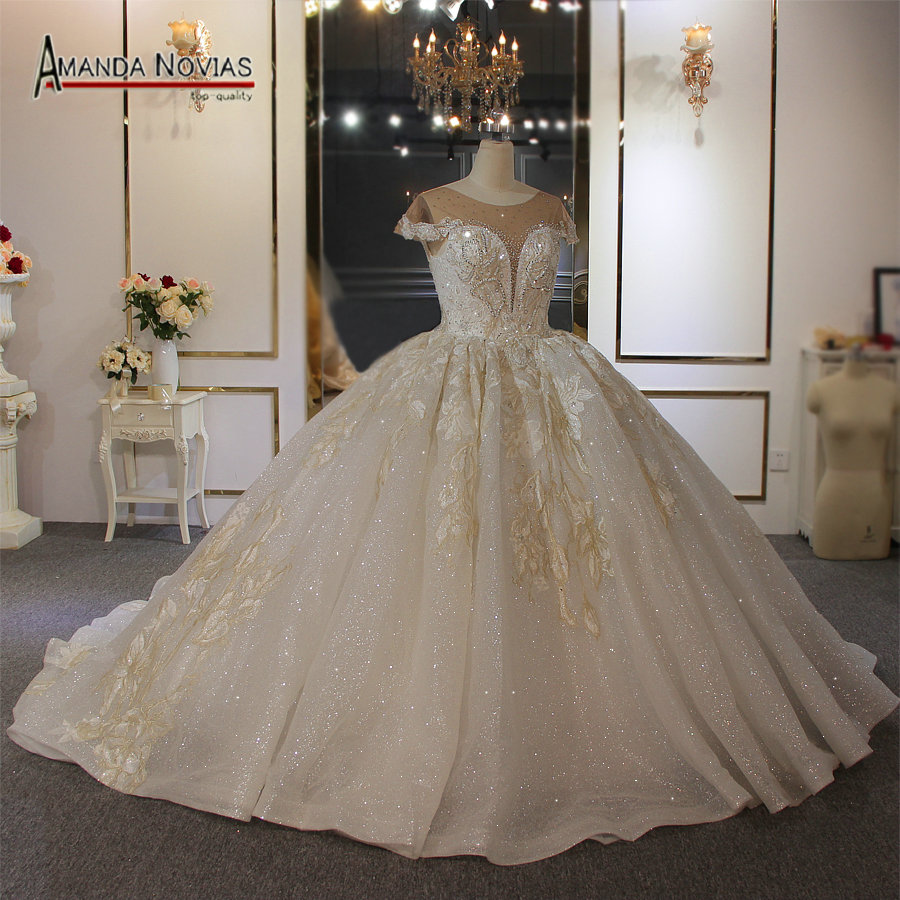 18 Plus Size Wedding Dress Ivory Color With Champagne Color Lace
