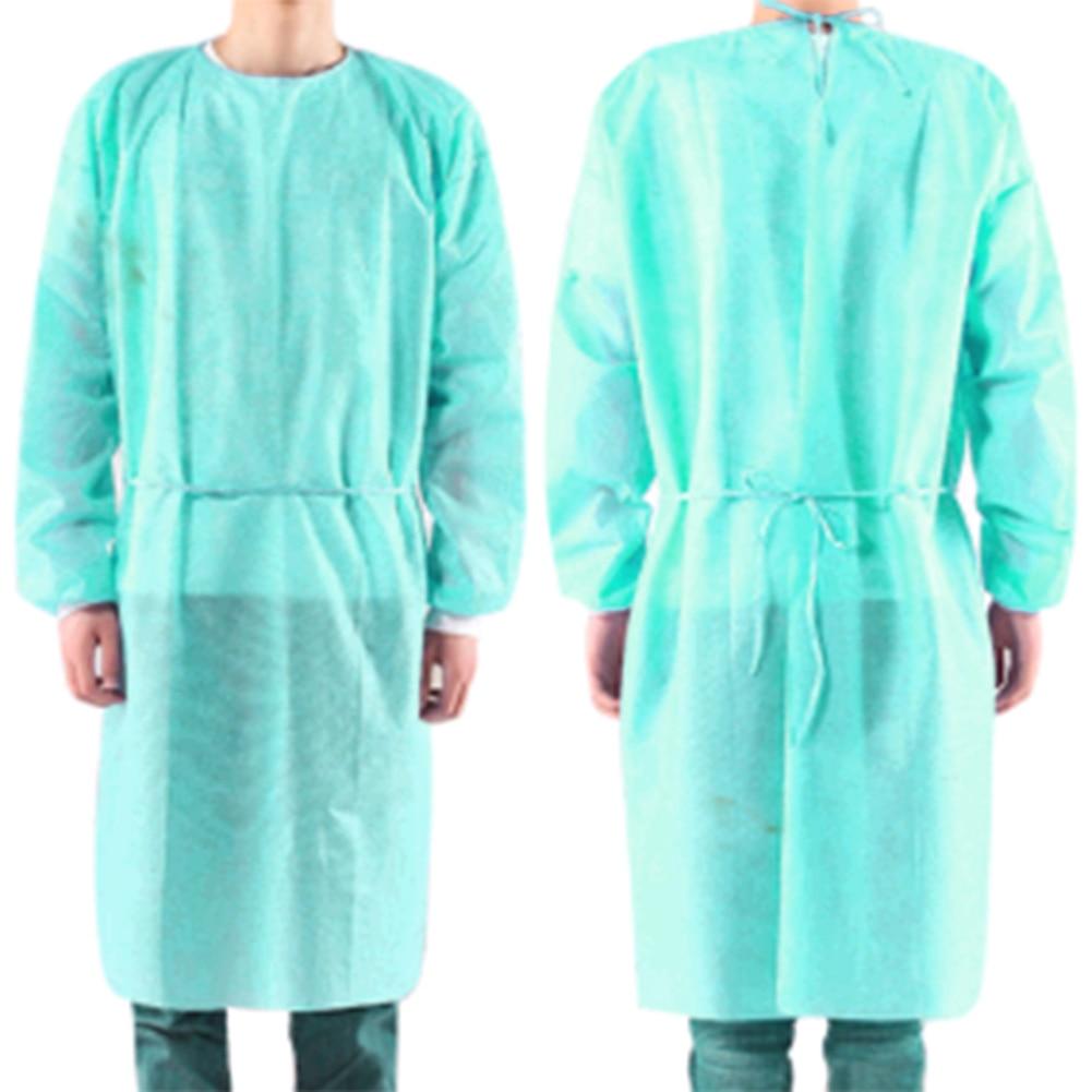 10pcs/set Disposable Gown Bandage Coveralls Surgical Dust-proof Isolation Clothes Labour Suit Non-woven Security Protection Clot