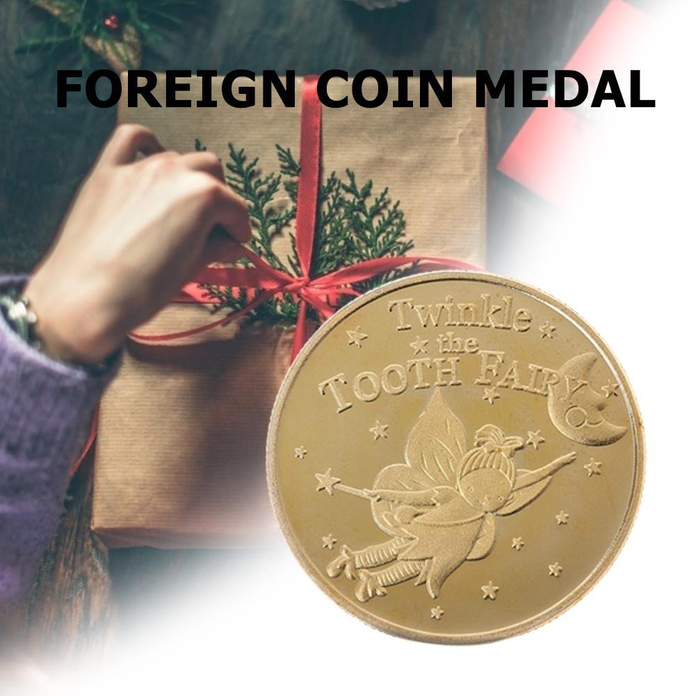 Zahn Fee Gold Münze Vergoldete Gedenkmünze Kinder Zahn Austausch Geschenk Zahn Fee Medaille Ausländische Münze Medaille Kinder Geschenke