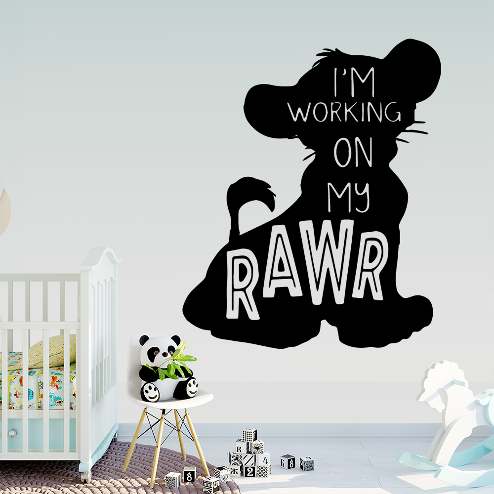 Lion King Baby Room Wall Stickers