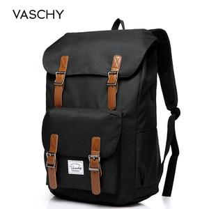 Image 1 - VASCHY 남자 배낭 학생 가방 대학 고등학교 가방 여행 가방 노트북 배낭 bookbag 여자 배낭