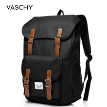 VASCHY الرجال على ظهره حقيبة طالب كلية الثانوية حقائب السفر حقيبة كمبيوتر محمول على ظهره bookbag المرأة على ظهره