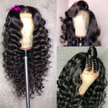 Brazilian 360 Deep Wave Lace Front Human Hair Wigs Front Lace Wigs With Baby Hair Pre Plucked Natural Hairline Remy Ali coco