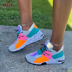 2020  Women Casual Shoes Leggings Fashion Rivets Increased Comfort Running  Sneakers Seasons Plus Size 36-43