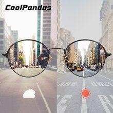 Vintage redondo Mujer gafas de sol para hombres, gafas de sol de conducción fotosensibles mujeres Rosa lente azul gafas, gafas de sol