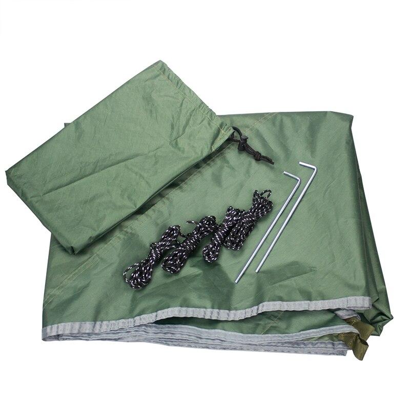 Сетчатый гамак + навес открытый кемпинг солнцезащитный навес портативный москитный водонепроницаемый качели кровать