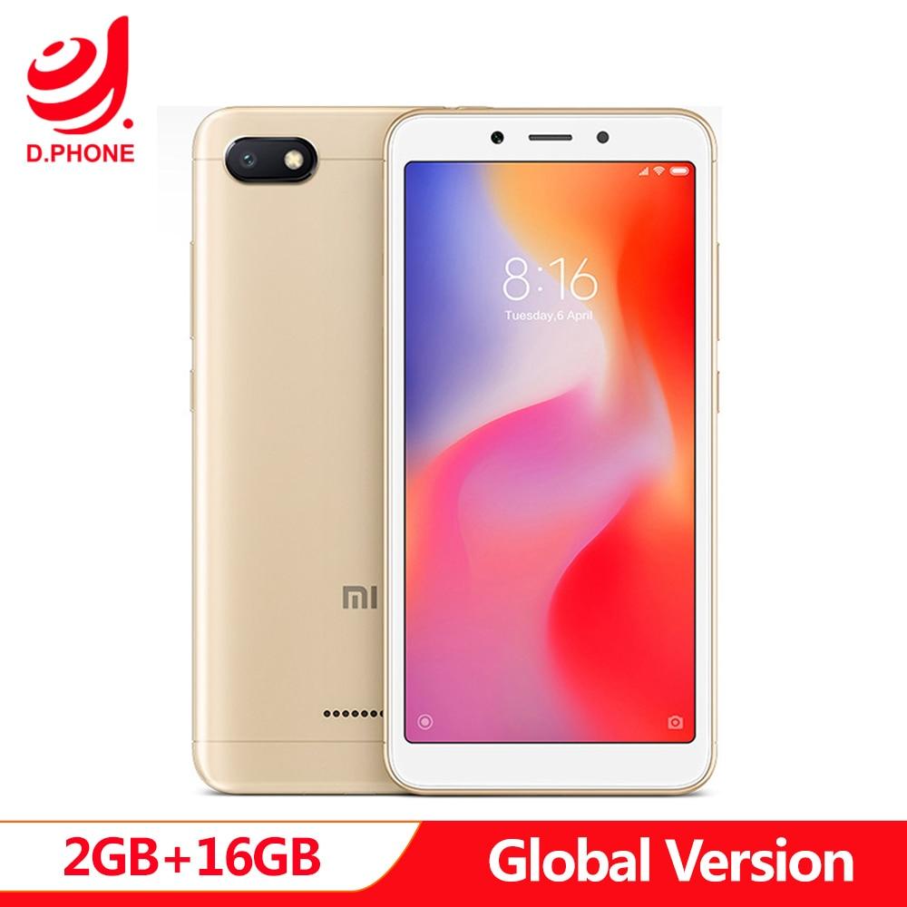 Global Version Xiaomi Redmi 6A 2GB 16GB 5.45 18:9 Full Screen Smart Phone MTK Helio A22 Quad Core 13MP Camera Cellphone