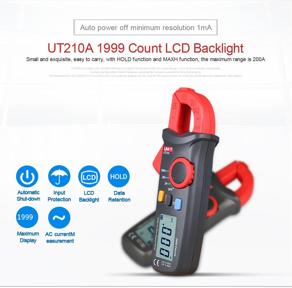 UNI-T ut210b ut210a amperímetro ncv teste profissional