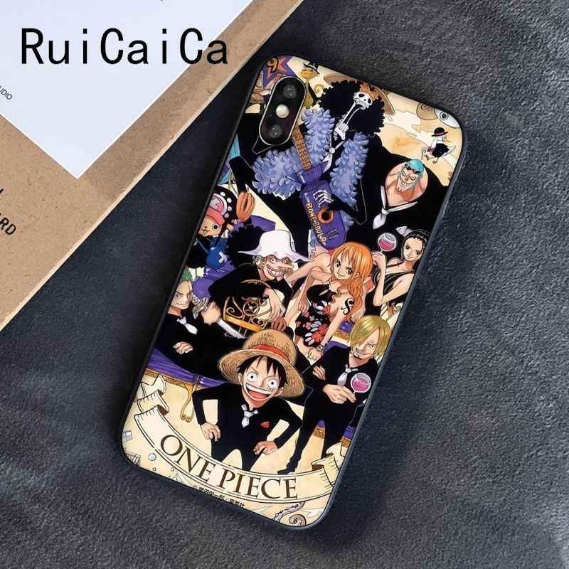Ruicaica חתיכה אחת אנימה Cartoon אייס לופי זורו חידוש טלפון Case כיסוי עבור iPhone 8 7 6 6S 6 בתוספת X XS מקסימום 5 5S SE XR 10