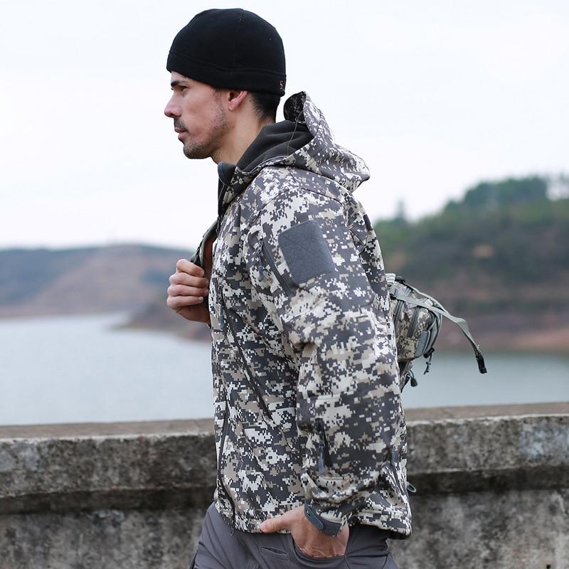 Armée tactique vêtements hommes militaire uniforme Airsoft Camouflage vestes doux Shell Combat chemises chasse manteau ACU soldat Costume