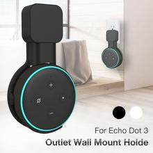 Black And White Wall Mount Holder Bracket For Amazon Alexa Echo Dot 3rd Generation Speaker Stand Hanging Holder Accessories