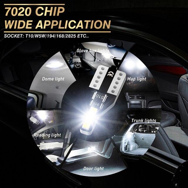 2x T10 W5W Led Bulb 168 Car Interior Reading Light For Honda Civic Accord Crv Fit Jazz City Hrv Cr-v Spoiler Element Insight MDX