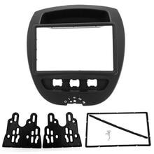 2 Din Автомобильная DVD фасция для Toyotax Aygox/Citroenx C1/PeugxEot 107 2005- фасции тире комплект радио Панель покрытие для стереосистемы пластина отделка