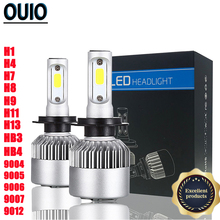 2PCS 72W 7600LM S2 Car Headlight Bulbs Head Lamp 6000K H4 LED H7 H11 H8 HB4 H1 H3 HB3 9012 Auto Styling Automobiles Lights