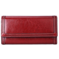 New Arrival Women Clutch Purse Leather Long Wallet RFID Ladies Card Holder Wallet Luxury Brand Female Long Purse Birthday Gift