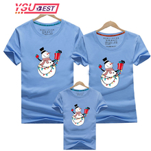 Family Matching Shirt Outfits Print-Clothing Christmas Mom Baby Mommy Me And Dad Snowman