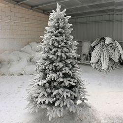 Árbol de Navidad de lujo 2 M flocado árbol de Navidad PE árbol de Navidad flocado copo de nieve árbol de Navidad centro comercial decorativo Tre