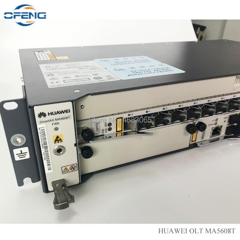 Free Shipping Huawei OLT MA5608T 1G, 1*MCUD 1G Control Board + 1*MPWC DC / MPWD AC Power Board + 1*GPBD / GPFD C+ Service Board