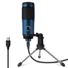 2021 New USB Microphone Metal Condenser Microfono Pc Professional Microfone for Studio Record Gaming Streaming Podcasting