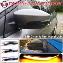 Uds dinámica intermitente luces Led de señal de giro ahumado fluye espejo retrovisor luces indicador para Ford Kuga Ecosport 2013 2018