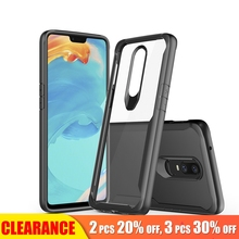 [Clearance] For Oneplus 6T Luxury Transparent Hard Anti-knock Phone Case For Oneplus 6T Soft TPU Silicone Full Back Cover Case [hk stock] soft case tpu transparent back cover for oneplus 3