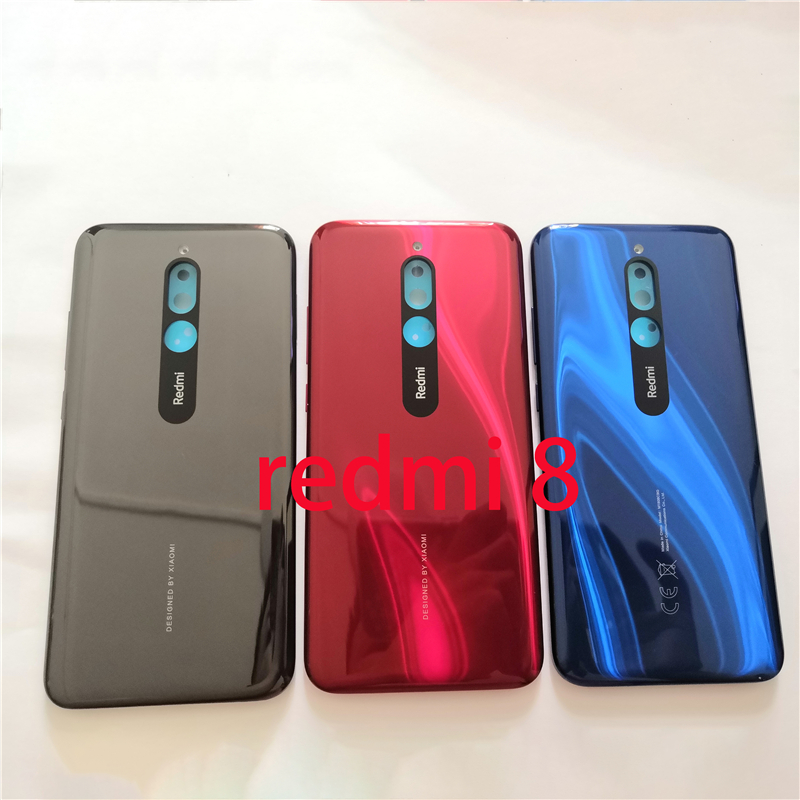 New Back Cover Battery Door Case Housing Replacement With Glass Lens Part For Xiaomi Redmi 8 Redmi 8A Redmi Note 8