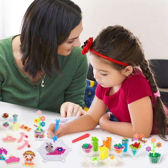 Refill Hama Beads Puzzle Aquabeads DIY Water Spray Beads Set Ball Games 3D Handmade Magic Toys For Girls Children 5