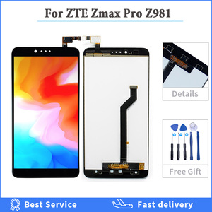 100% Tested Display For ZTE Zmax Pro Z981 LCD Display Touch Screen Digitizer Assembly Replacement For ZTE Zmax Pro Z981 Phone