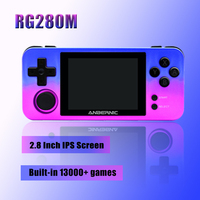 Mini RG280M Handheld Game Console 2.8 Inch Screen 64Bit Open linux System for PS1/MD/N64/GB/NES/MAME Built in 13000+ Retro Games