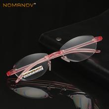 TR90 Ultra Light Memory Fashion Pink Frame Anti-fatigue Rimless Reading Glasses +0 75 +1 +1 25 +1 5 +1 75 +2 +2 25 +2 5 to +4 tanie tanio nomanov WOMEN Unisex Dziewczyny Chłopcy Jasne Okulary do czytania Antyrefleksyjną ZP034 999cm Poliwęglan Plastikowe tytanu