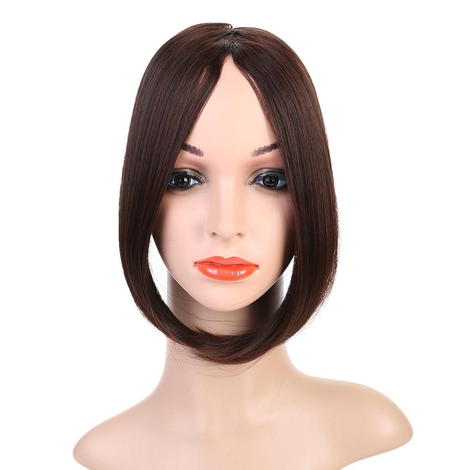 HOUYAN, модные длинные волосы на заколках спереди, боковая бахрома, накладные волосы, настоящие натуральные синтетические волосы с челкой - Цвет: 2I33
