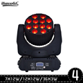 4 шт./лот светодиодный 7x1 2 w/12x1 2 Вт/36x3 w движущийся световая головка светодиодный этапа moving головной свет rgbw RGBW 4in1 Quad СВЕТОДИОДНЫЙ светильник п...