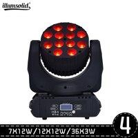 4 sztuk/partia LED 7x1 2 w/12x1 2 w/36x3 w umyć ruchoma głowica oświetlenie sceniczne LED rgbw RGBW 4w1 Quad LED lampa zaawansowane do profesjonalnego etapu w Oświetlenie sceniczne od Lampy i oświetlenie na