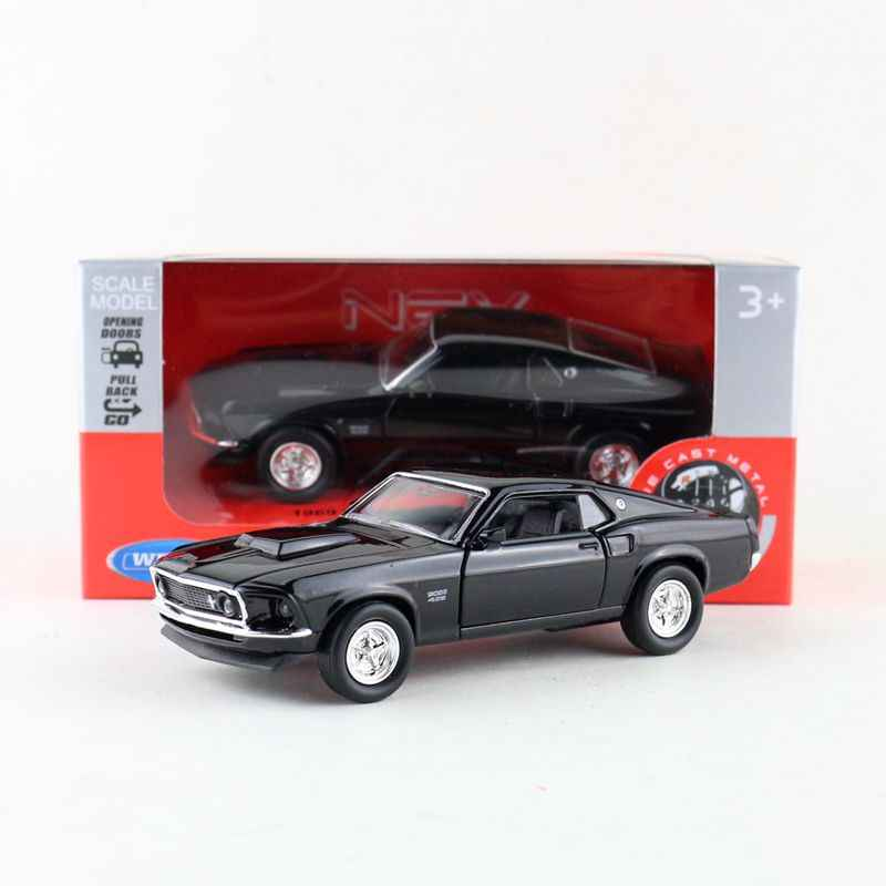 Ford Mustang Boss 429 Black 1969 WELLY 1:24 WE24067BK