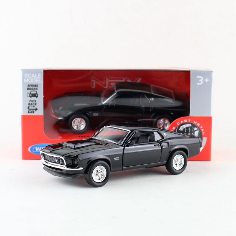 Welly DieCast Model/1:36 Scale/1969 Ford Mustang Boss 429 Classical Toy/Pull Back Educational Collection/Gift For Children