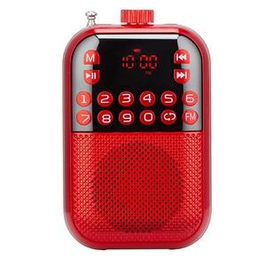 Altavoz receptor multifuncional, USB recargable, estéreo, pantalla LCD, reproductor de música, Radio FM, portátil, Digital, Mini
