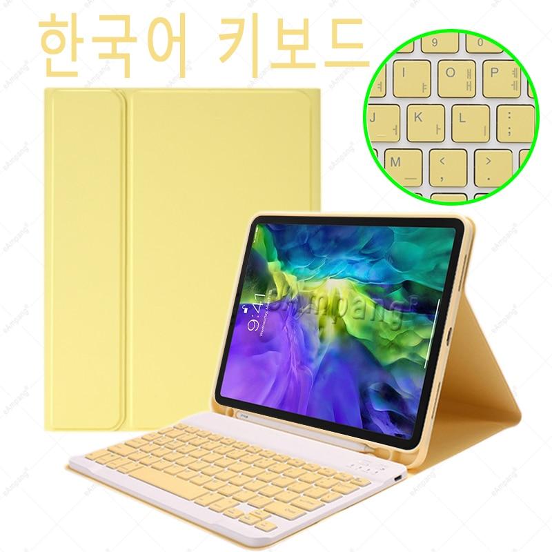 Korean no Mouse Navy For iPad Air4 10 9 2020 A2324 A2072 Keyboard Mouse Case English Russian Spanish Korean Keyboard