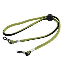 Sprzedaż hurtowa 20 sztuk zielony i czarny moda okulary sportowe przewód na świeżym powietrzu regulowane okulary przeciwsłoneczne sportowe elastyczny pasek pasek opaska na głowę